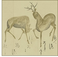 Deer scroll painting