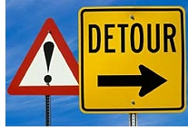 Attention Detour Sign